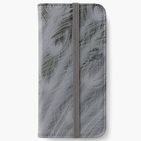 White peacock feathers iPhone Wallet