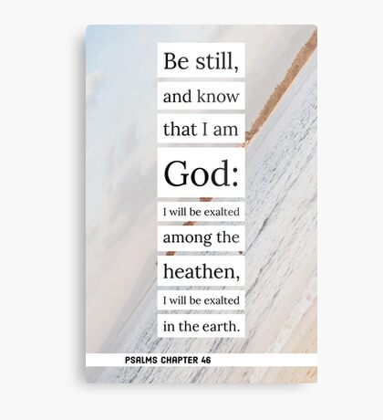 Psalms chapter 46 Metal Print