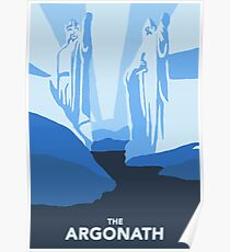 The argonath - Lord of the Rings Poster