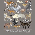 Wolves of the world (Poster) by belettelepink