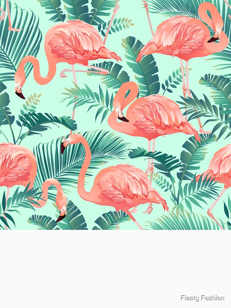 Flamingo Bird Tropical Palm Pattern by FurryFashion