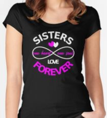 Stisters love forever one heart one soul graphic Women's Fitted Scoop T-Shirt