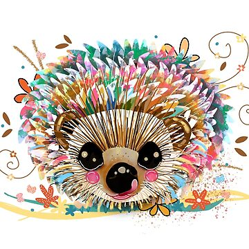 Rainbow Hedgehog by karin