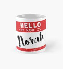Hello My Name Is Norah Name Tag Mug