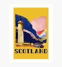 Scotland - Vintage Style Travel Highlands Art Print