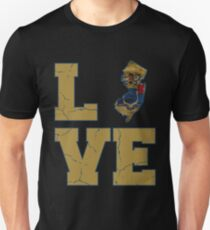 New Jersey Flag Love Retro T-Shirt Gift Unisex T-Shirt