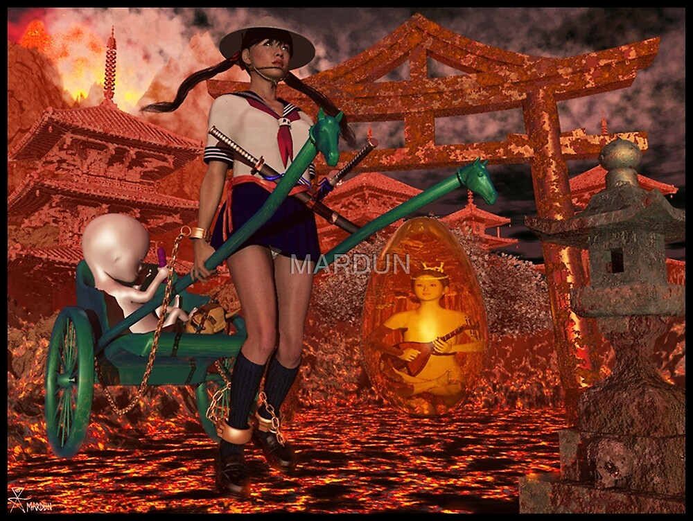 Hell Girl Shaman Witch by MARDUN
