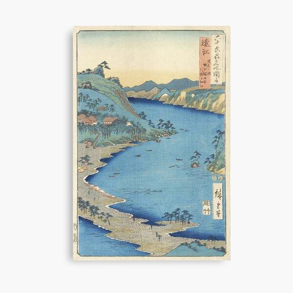 HD Province of Totomi: Lake Hamana, by Utagawa Hiroshige HIGH DEFINITION Canvas Print