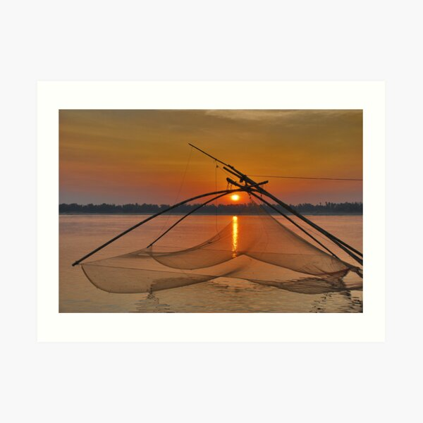 Mekong sunset Art Print