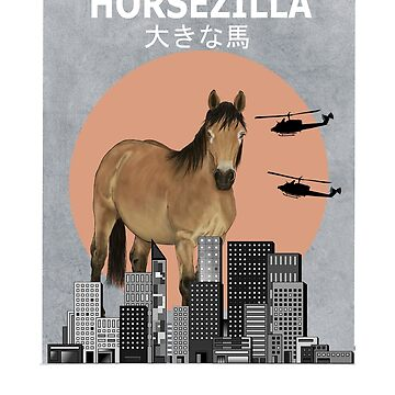Horsezilla Horse Funny Animal T-Shirt Owner Gift by Ducky1000