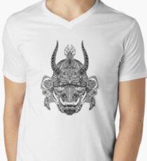 Samurai Mask V-Neck T-Shirt