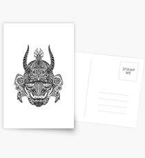 Samurai Mask Postcards