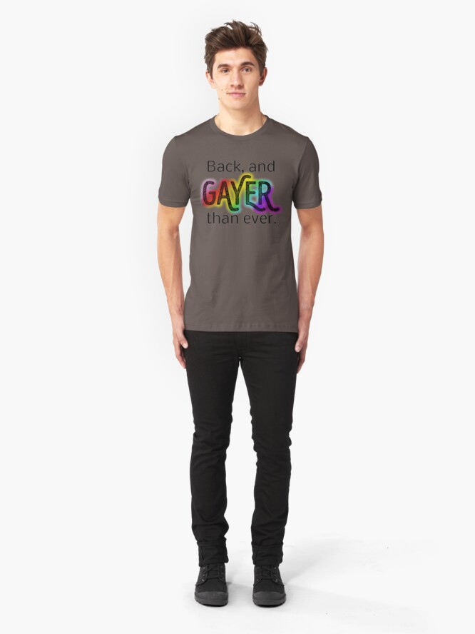 Alternate view of Gayer Than Ever Slim Fit T-Shirt