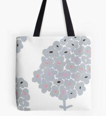 Grey Flower Tote Bag