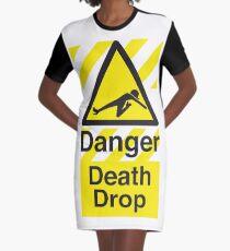 Death Drop Graphic T-Shirt Dress