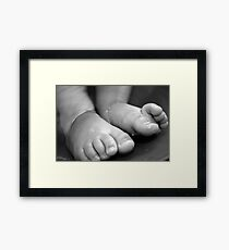 Childs Feet Framed Print
