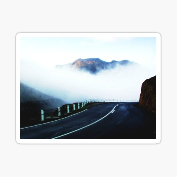 The road to Cradle Top Mountain Sticker