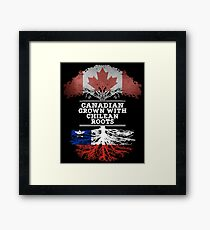Canadian Grown With Chilean Roots Gift For Chilean From Chile - Chile Flag in Roots Framed Print