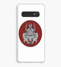 Samurai Mask - Red Circle by FlorisV Case/Skin for Samsung Galaxy