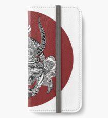 Samurai Mask - Red Circle by FlorisV iPhone Wallet/Case/Skin