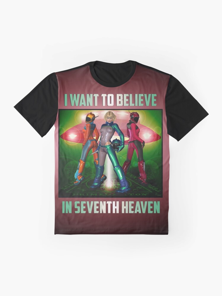 Alternate view of UFO Space Girls From Seventh Heaven Venus  Graphic T-Shirt