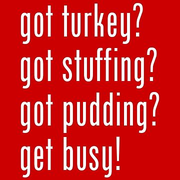 Christmas Shopping List - got turkey? got stuffing? got pudding? get busy! by tinybiscuits