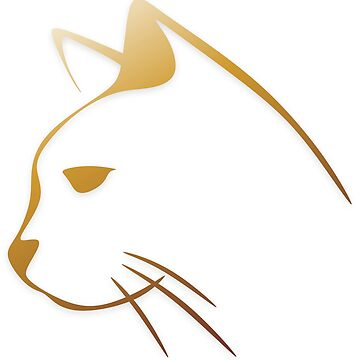 Golden cat on white by BlackDevil
