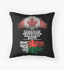 Canadian Grown With Malagasy Roots Gift For Malagasy From Madagascar - Madagascar Flag in Roots Floor Pillow