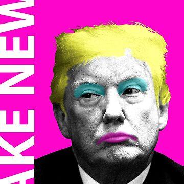 Fake News - Pink by garyhogben