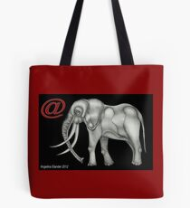 @Elephant text Tote Bag