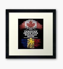 Canadian Grown With Romanian Roots Gift For Romanian From Romania - Romania Flag in Roots Framed Print