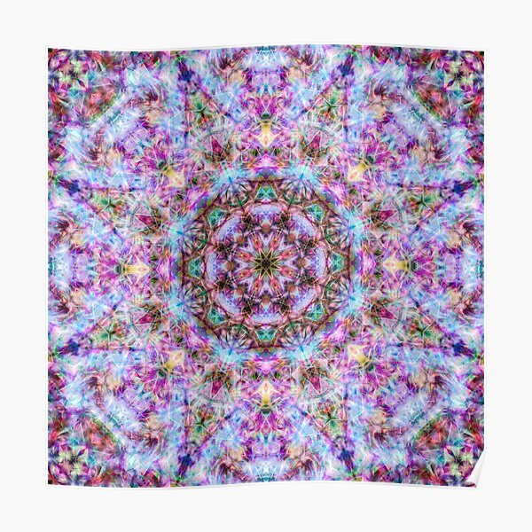 Astrid - Psychedelic Kaleidoscopic Design Poster