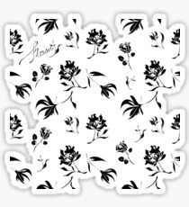 Black floral pattern Sticker