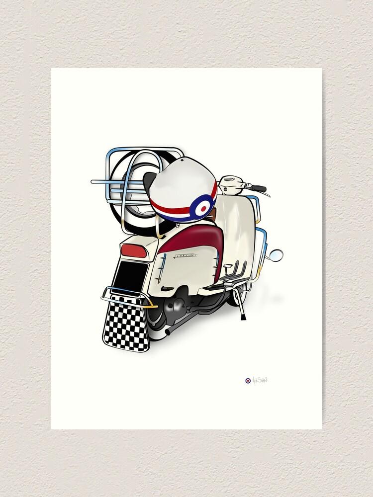 Alternate view of Lambretta Ready 2 go - By Collibosher Art Print