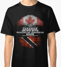 Canadian Grown With Trinidadian Tobagonian Roots Gift For Trinidadian Tobagonian From Trinidad And Tobago - Trinidad And Tobago Flag in Roots Classic T-Shirt