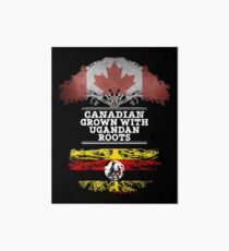 Canadian Grown With Ugandan Roots Gift For Ugandan From Uganda - Uganda Flag in Roots Art Board