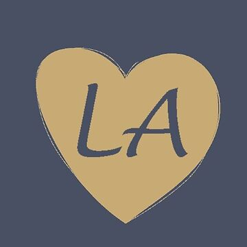 Blue and Gold Los Angeles Heart Gift LA Pride Football by DigitalNomadTee