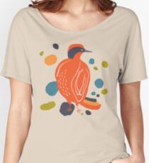 Quirky Helmeted Honeyeater Women's Relaxed Fit T-Shirt