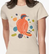 Quirky Helmeted Honeyeater Women's Fitted T-Shirt