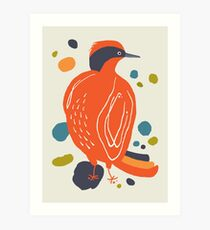 Quirky Helmeted Honeyeater Art Print