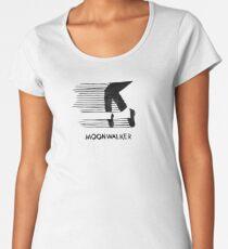 Michael Jackson MJJ Logo, Moonwalker Artistic Drawing Women's Premium T-Shirt