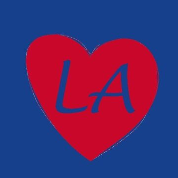 Blue and Red Los Angeles Heart Gift LA Pride Basketball by DigitalNomadTee