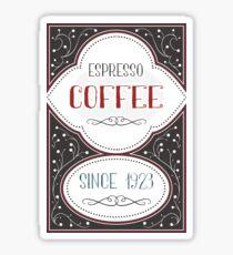 Old Espresso Coffee Design Sticker