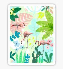 Flamingo jungle Sticker