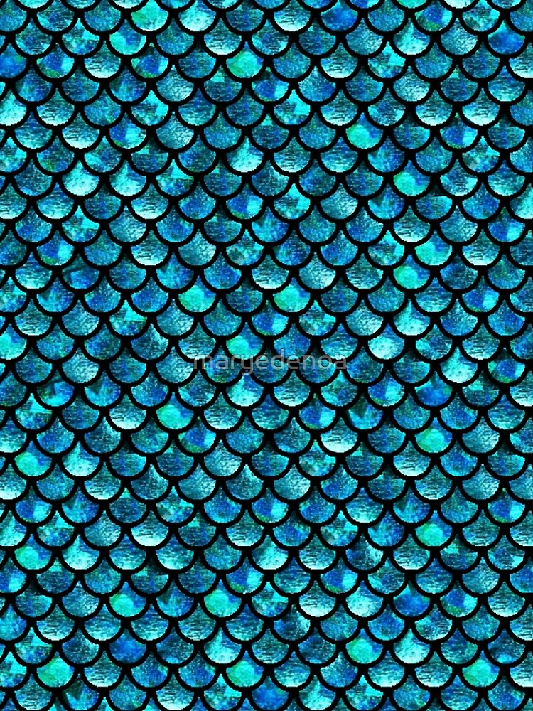 Mermaid Scales - Turquoise Blue by maryedenoa