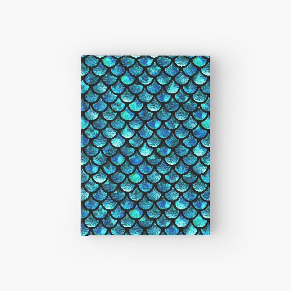 Mermaid Scales - Turquoise Blue Hardcover Journal