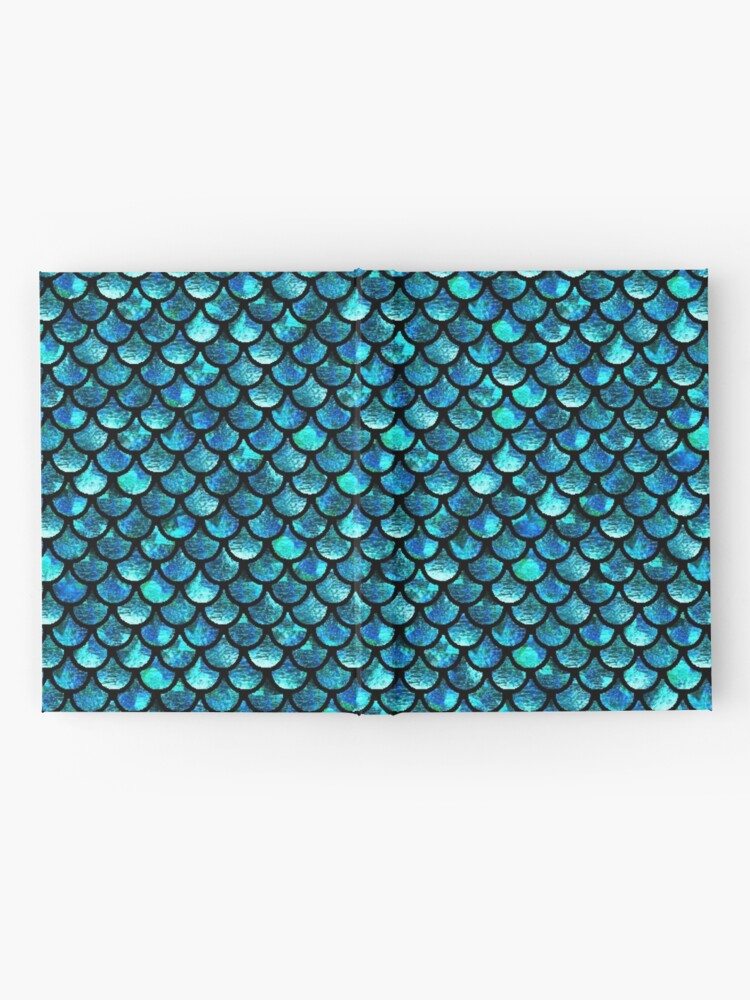 Alternate view of Mermaid Scales - Turquoise Blue Hardcover Journal