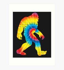 Tie Dye Sasquatch Colorado Bigfoot Colorado Patriotic Art Print