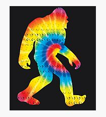 Tie Dye Sasquatch Colorado Bigfoot Colorado Patriotic Photographic Print
