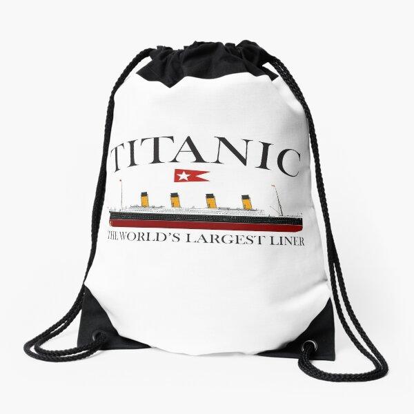 Titanic. 1912, RMS Titanic, Cruise, Ship, Disaster. Drawstring Bag